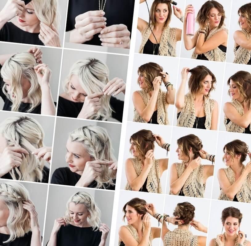 два варианта праздничной красивой укладки волос