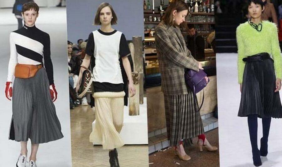 Плиссированные юбки снова в моде