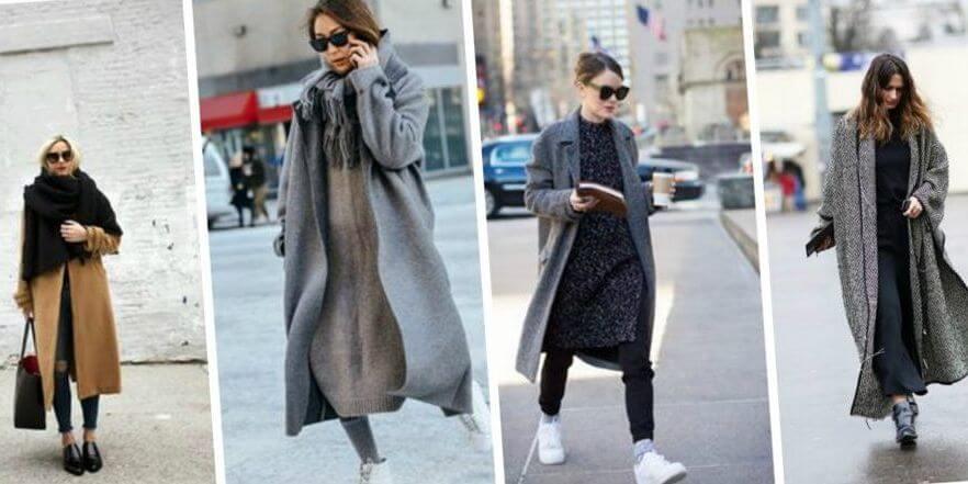 Твидовые пальто в серых тонах