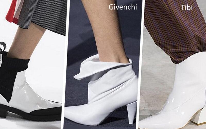 Белые ботинки от дизайнеров