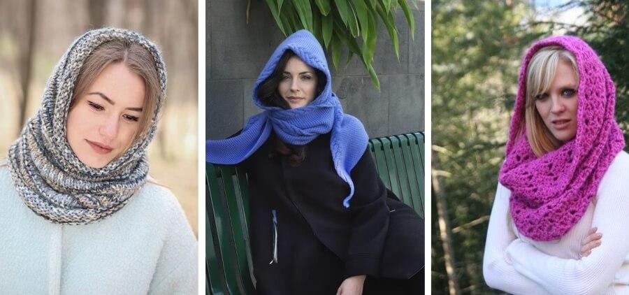 Как красиво носить снуд на голове: тепло и стильно