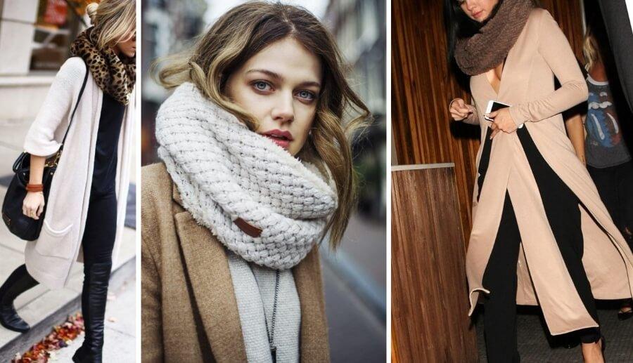 Как красиво носить снуд с пальто фото разных способов