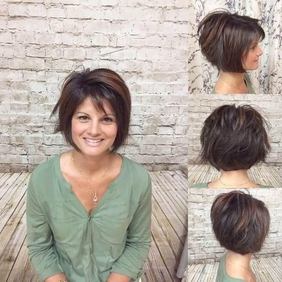 Стрижка каскад на короткие волосы: вид спереди, сбоку и сзади