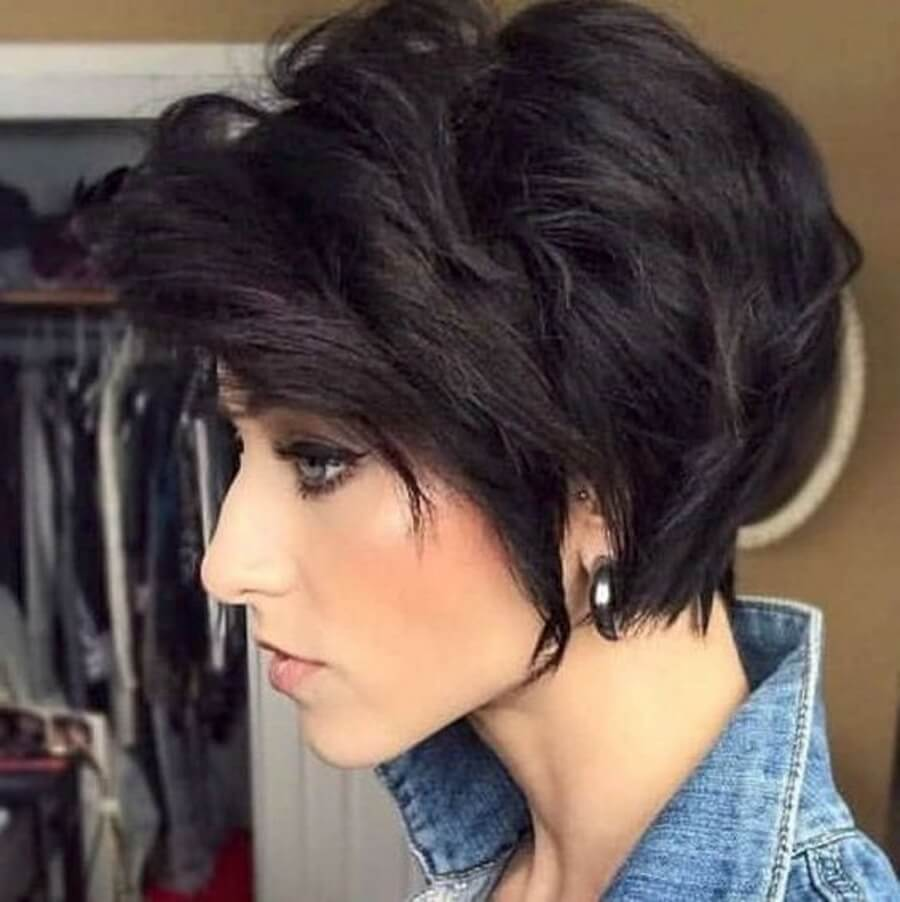 Стрижка каскад на короткие волосы вид сзади