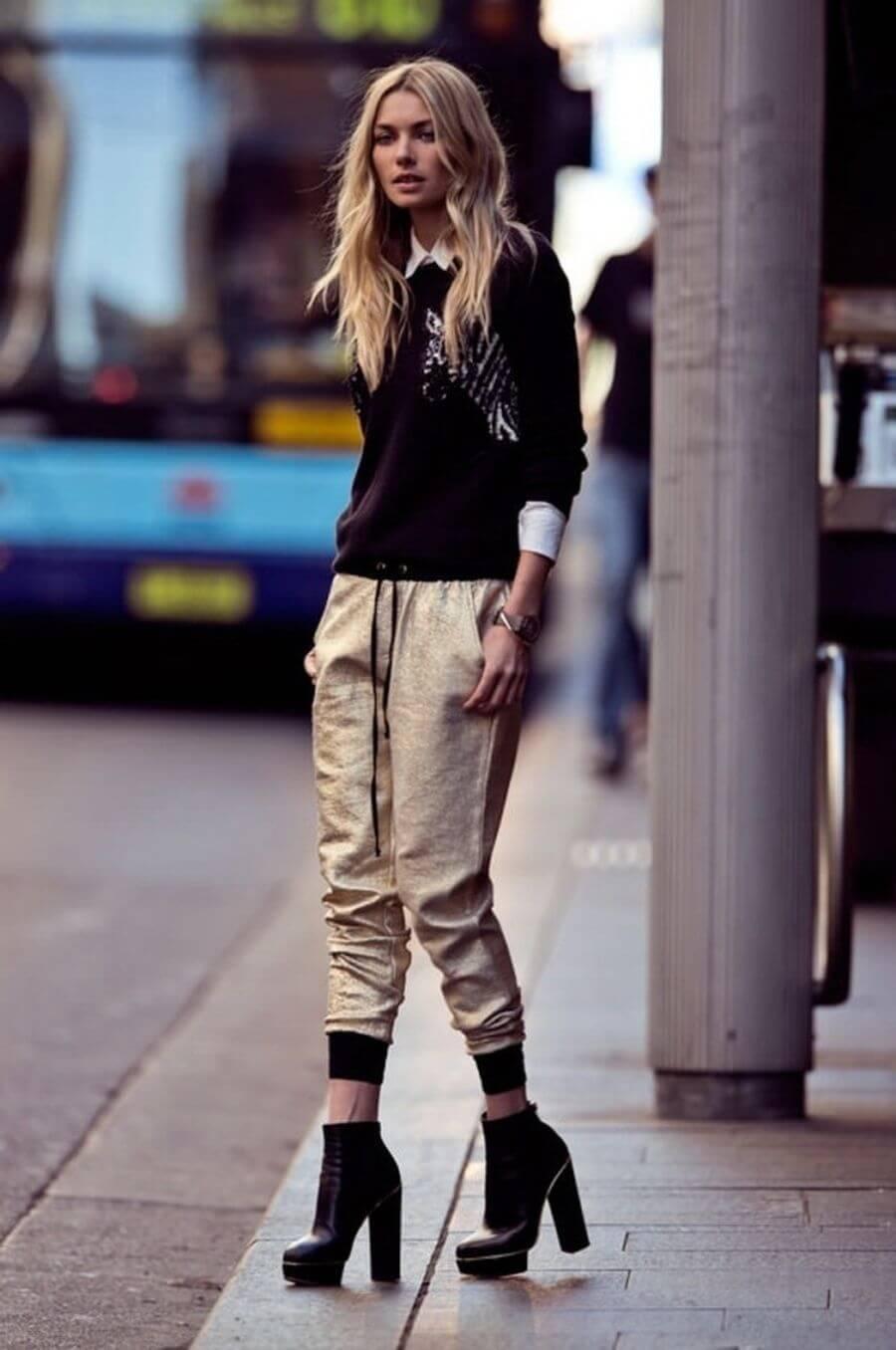 Модные женские луки с джоггерами