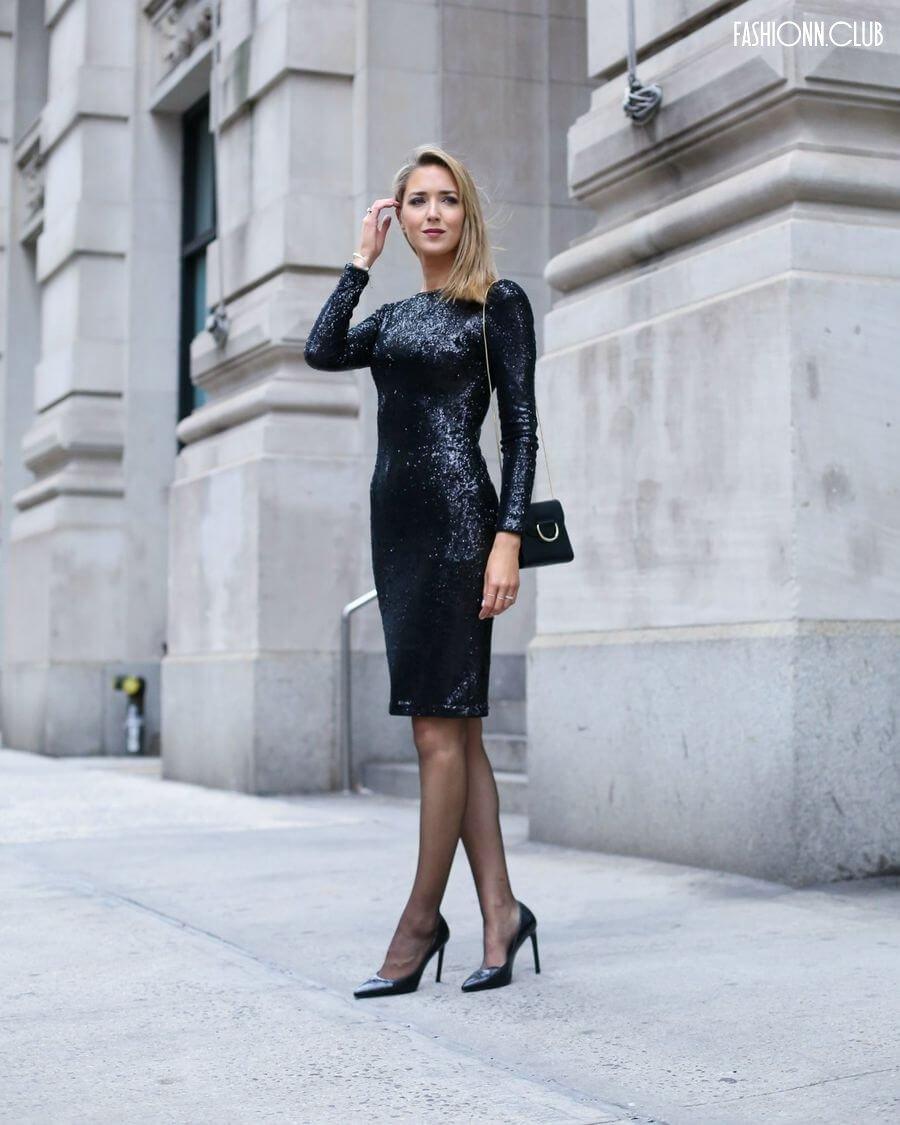 Черное гипюровое платье - много фото