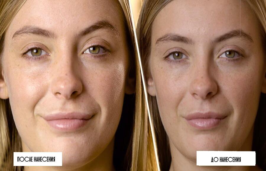 Праймер: фото до и после нанесения